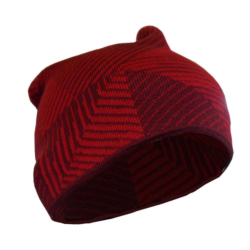 Nike Youth Unisex Sportswear Cuffed Red Beanie Hat (One Size)