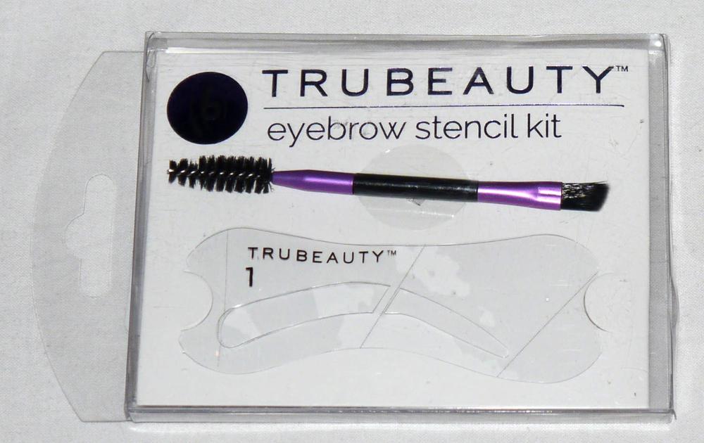 True Beauty Set of 6 Eyebrow Stencils & Eyebrow Brush Kit (Color Choices)
