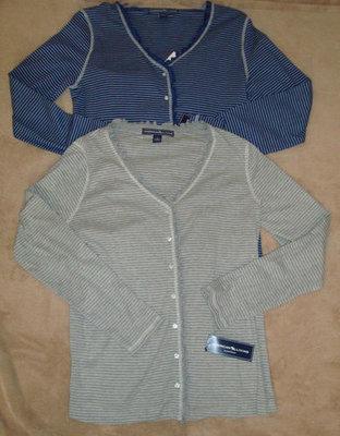 American Living Women's 2 Pc Knit Striped Pajama Set (Medium)