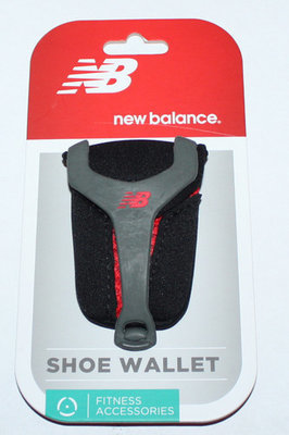 New Balance Unisex Black & Red Shoe Wallet Sz OSFM