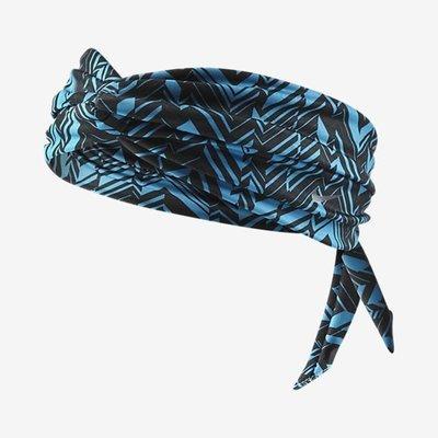 Nike Studio Unisex Twist Blue/Black Printed Head Tie (One Size)