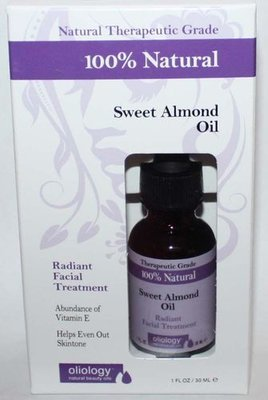 Oliology 100% Natural Sweet Almond Oil Radiant Facial Treatment 1 oz