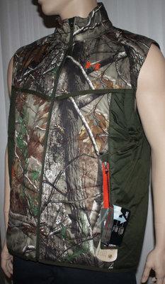 Under Armour Men's Coldgear RealTree Camo Wind & Water Resistant Vest (Small)