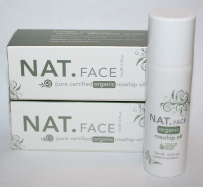 Lot Of 2 NAT.FACE Pure Certified Organic Rosehip Oil 0.5 oz Each