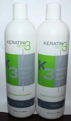Lot Of 2 Coppola KERATIN Factor 3 K3 Keratin Enhanced Conditioner 16.9 oz Each