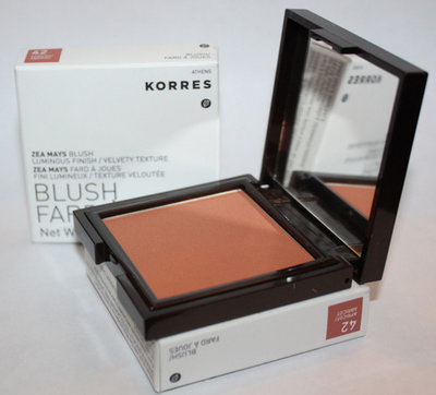 Lot Of 2 Korres Zea Mays Blush #42 APRICOT .24 oz Each