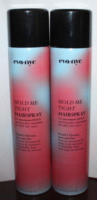 Lot of 2 Eva HOLD ME TIGHT Maximum Hold Hairspray 10 oz Each
