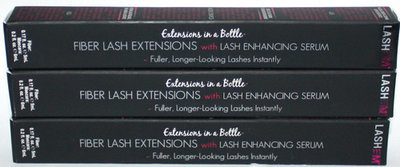 3 LashEm EXTENSIONS IN A BOTTLE Fiber Lash Extensions With Serum Mascara BLACK