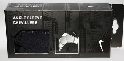 Nike Unisex Black Compression Support Ankle Sleeve (Small)