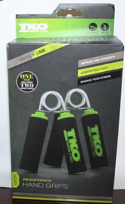 1 Pair TKO Heavy Resistance ONYX + LIME Resistance Hand Grips