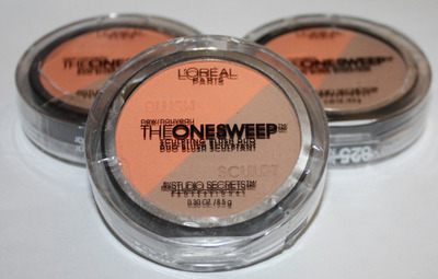 Lot Of 3 L'Oreal The One Sweep Sculpting Blush Duo #825 NECTAR 0.30 oz Each