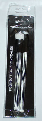 Aymie B' GOTTA B URBAN Black & White Zebra Print Foundation/Concealer Brush Set