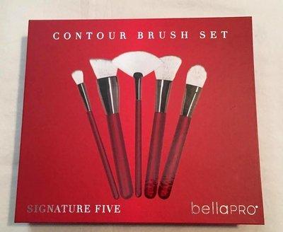 Bella Pro Signature Five Red Contour Brush Set