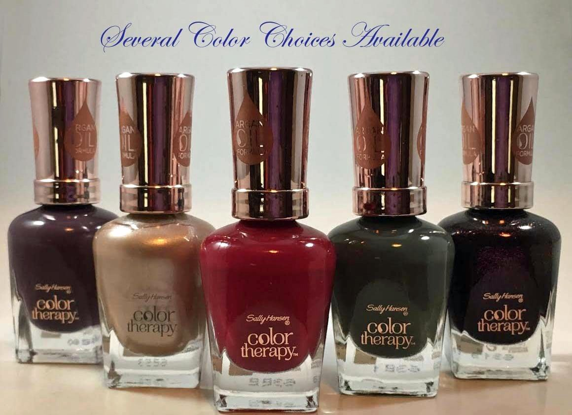 Sally Hansen Color Therapy Argan Oil Formula Nail Polish 0.5 oz -Several Colors
