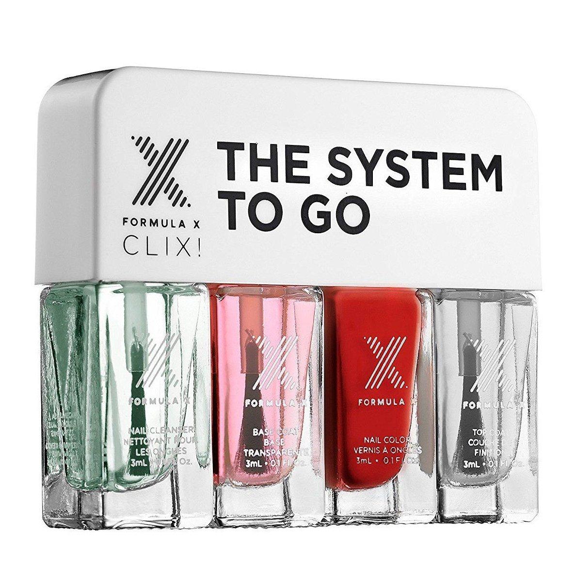 Formula X CLIX! PYROTECHNIC The System To Go Mini Nail Polish Set 4 x 0.1 oz