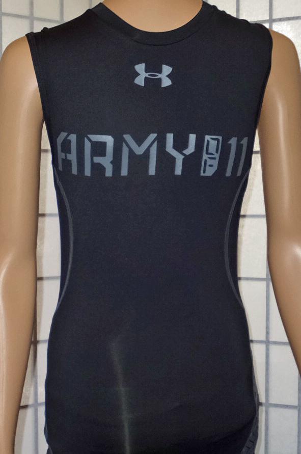 Under Armour Men's Black UA Army Of 11 Football Sleeveless Compression Shirt -Small