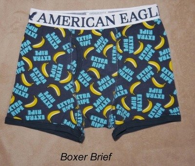 American Eagle Men's EXTRA RIPE BANANA Fitted Boxer Briefs - Several Sizes