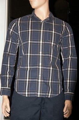 American Eagle ATHLETIC FIT Men's Plaid Shirt -Blue (Several Sizes)