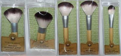 TUSCAN HILLS Bamboo Cosmetic Makeup Blush Brush