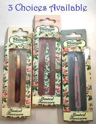 The Vintage Cosmetic Company Slanted Eye Brow Tweezers -Choices available