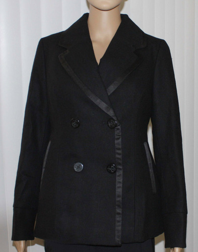 American Eagle Women's Double-Breasted Peacoat  - Black *Reduced*