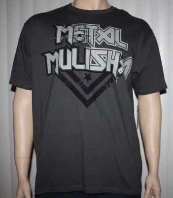 Metal Mulisha SEEP TEE Men's Charcoal Gray Graphic T-Shirt  - Small