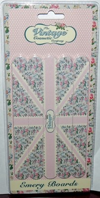 Set Of 4 The Vintage Cosmetic Company Union Jack Design Emery Boards