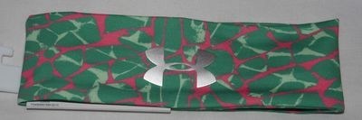 Under Armour Girl's Emerald Lake/Afterburn/Silver Metallic UA Print Headband