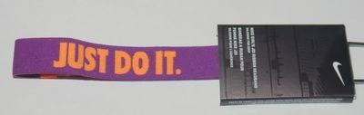 Nike Youth Girl's JDI Ribbon JUST DO IT Purple/Orange Polka Dot Headband