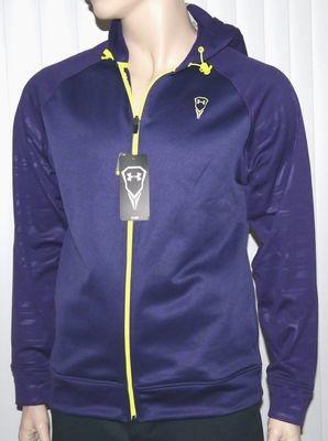 Under Armour Men's Loose Fit Purple Pride/Vis Yellow Hooded Jacket -Medium