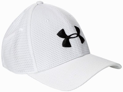 Under Armour Blitzing Men's White/Black UA Stretch Fit Hat (Medium/Large)