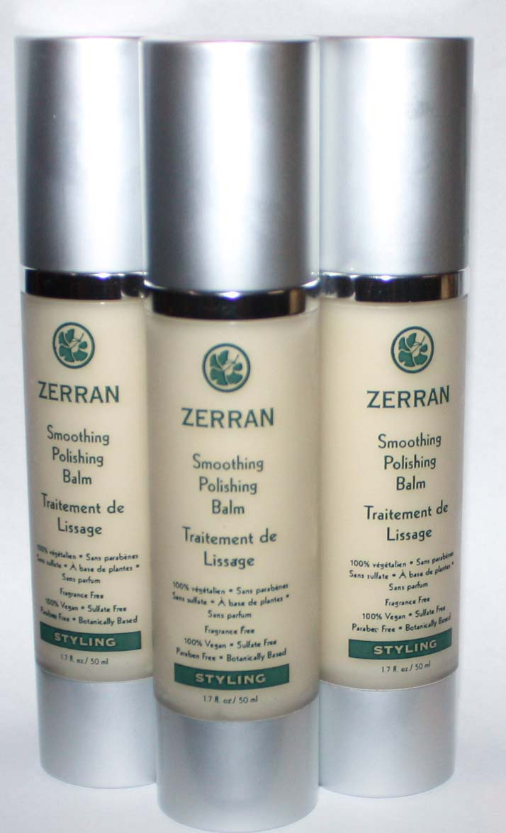 Lot Of 3 Zerran Smoothing Polishing Balm For Styling Hair 1.7 oz Each *Reduced*