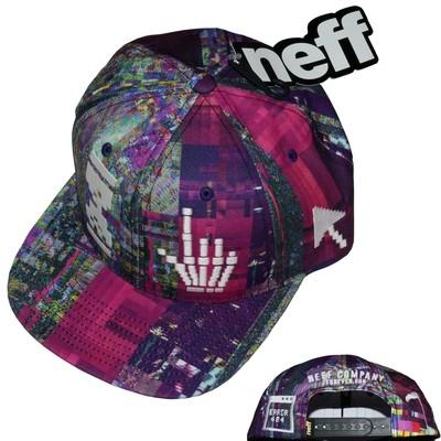 Neff Death Of The Internet Cap 6 Panel Snap Back Graphic Cap Hat