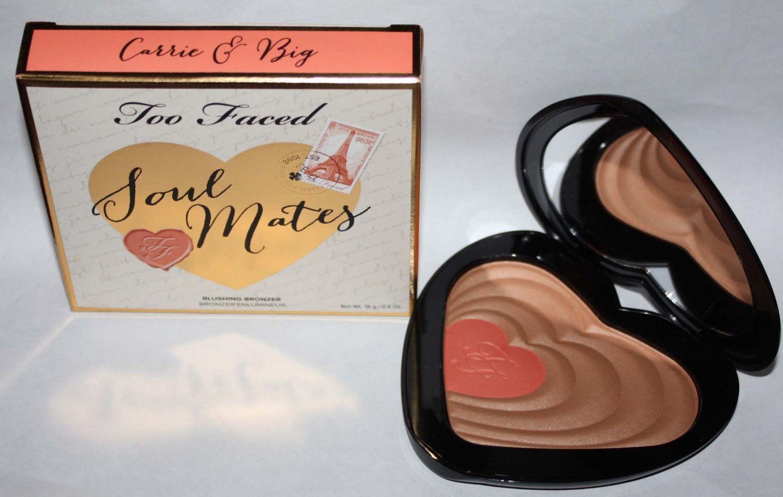 Too Faced SOUL MATES Carrie & Big Blushing Bronzer Duo 0.6 oz (Light to Medium)