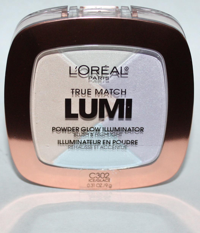 L'Oreal True Match LUMI Powder Glow Illuminator Blush/Highlight C302 Ice