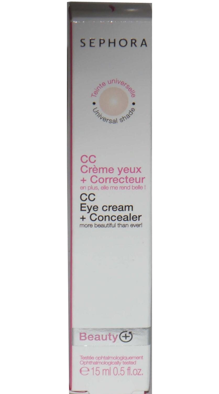 Sephora CC Eye Cream + Universal Shade Concealer 0.5 oz