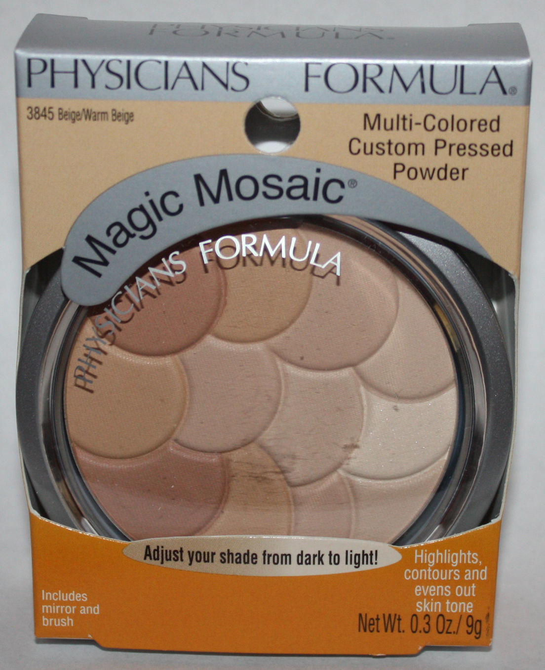 Physicians Formula MAGIC MOSAIC Pressed Powder #3845 Beige/Warm Beige 0.3 oz