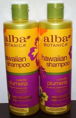 Lot of 2 Alba Botanica Colorific Plumeria Hawaiian Shampoo 12 oz Each