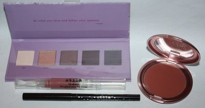 Stila Garden of Glamour Set Shadow Palette/Lip Glaze/Eyeliner/Lip & Cheek Cream