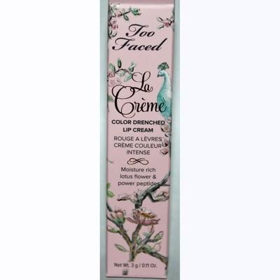 Too Faced La Creme Color Drenched Lipstick Cream - Bon Bon 0.11 oz