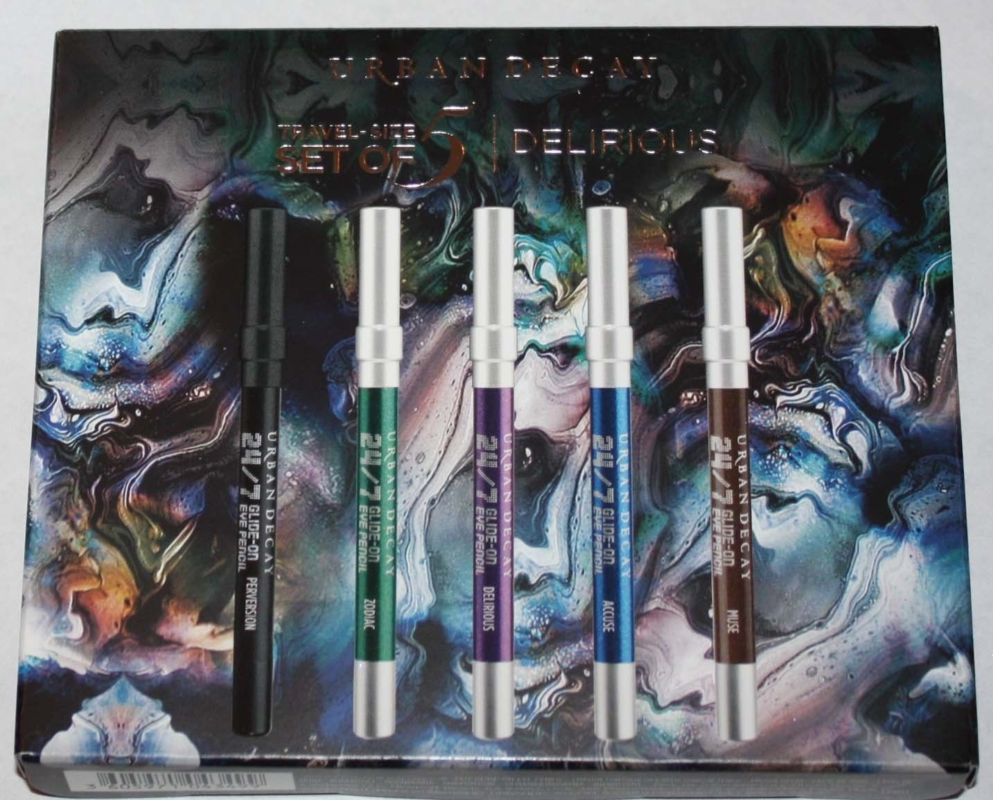 Urban Decay Delirious 5 Travel-Size Waterproof 24/7 Glide-On Eye Pencil Set