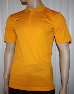 Nike Dri-Fit Men's University Gold/Black Swoosh Polo Shirt (Small)