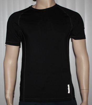 Reebok SPORT Men's Black Compression Shirt Top (Several Sizes)