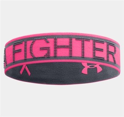 Under Armour Women's Power In Pink She's A Fighter Cerise/Lead Headband (One Size)