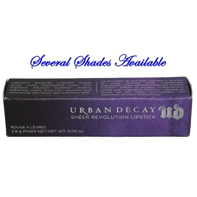Urban Decay Sheer Revolution Lipstick 0.09 oz (Several Shades)