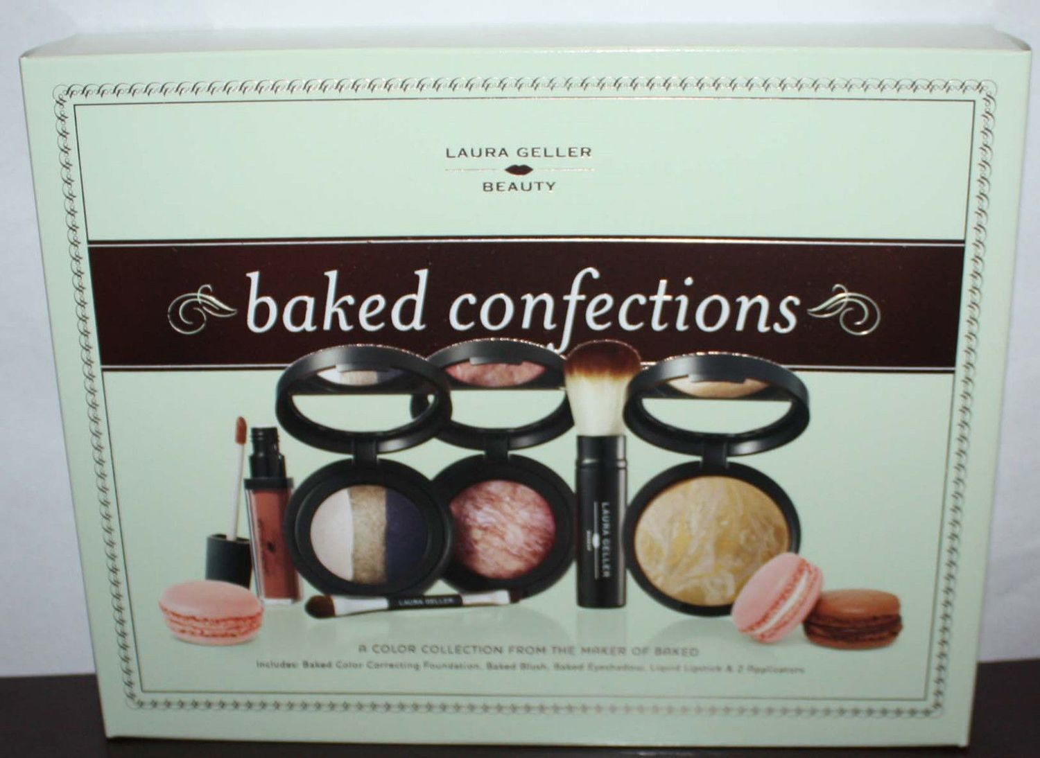 Laura Geller BAKED CONFECTIONS Foundation/Blush/Eyeshadow/Lipstick/Applicators