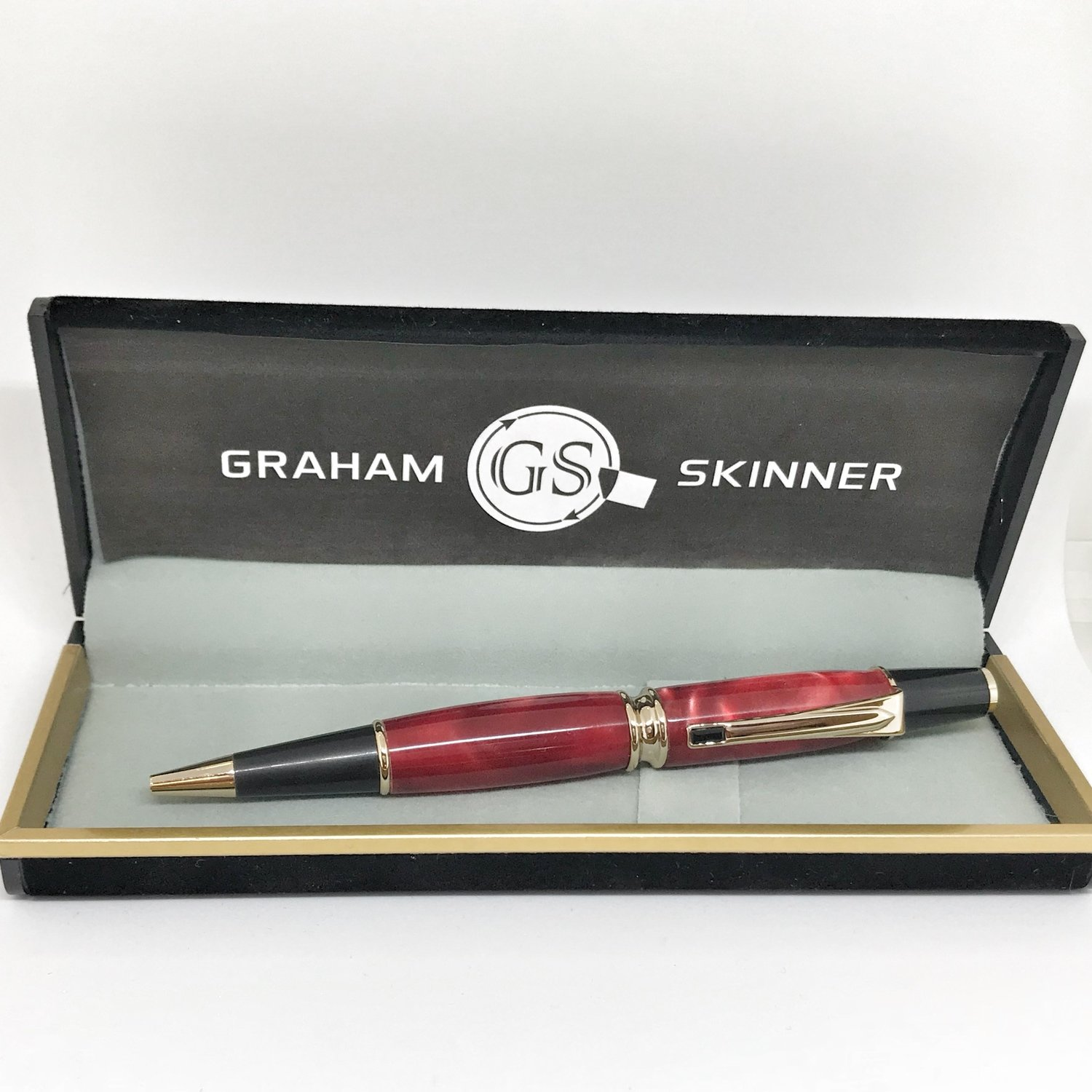 Babbio Gold Pen in Red