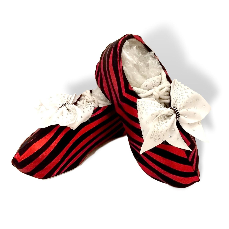 Zulu Zebra Cheer Shoe Covers