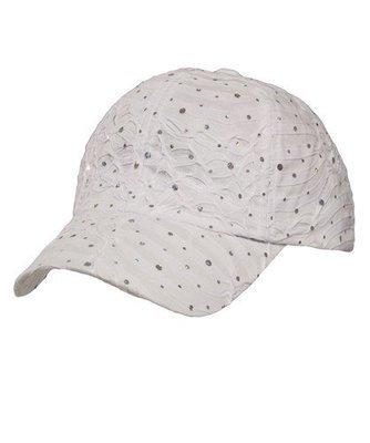 Glitter Cap - White