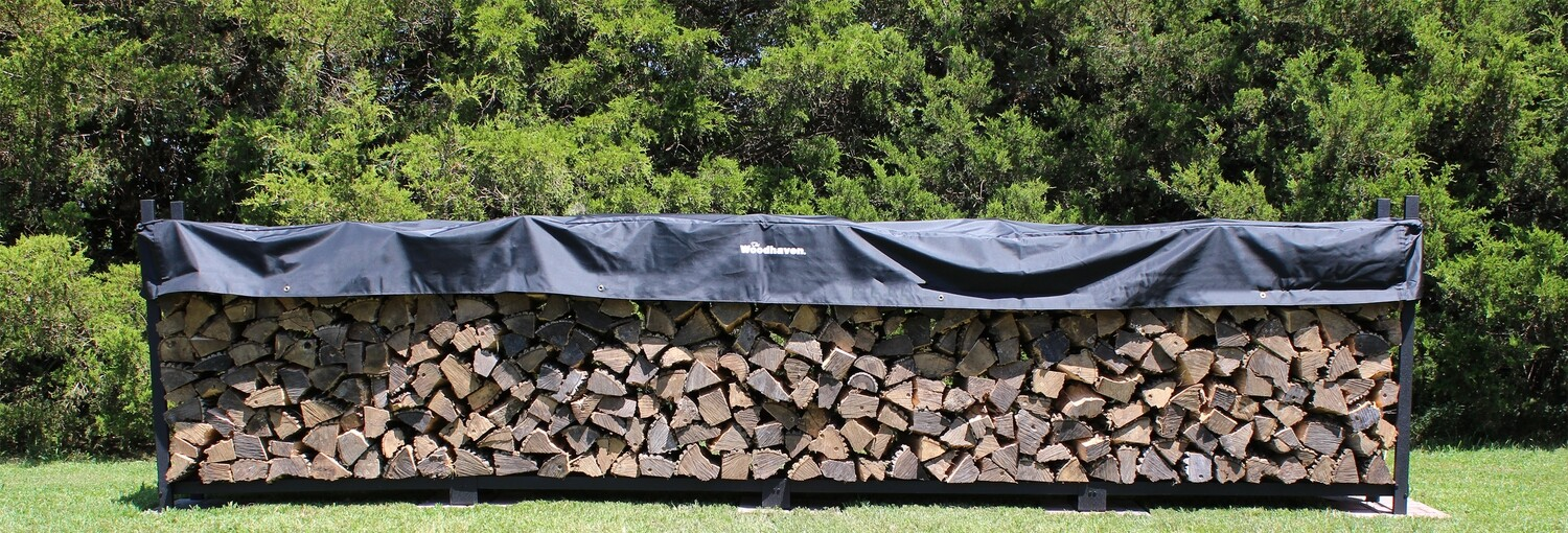 The Woodhaven 16ft Firewood Rack